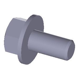 Pack 50 Secotec Hexagonal Screws with Shaft Galvanised DIN931/M8/Blue KP 50/ 425775