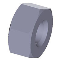 Hexagon-nut--low-profile-inch