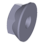 Hexagon nut, flanged inch